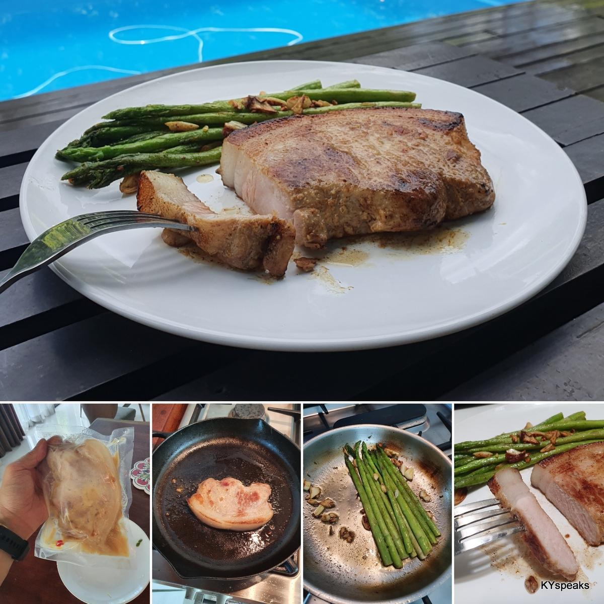 sous vide fuyu pork chop