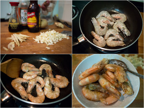 cook the prawns and place it aside