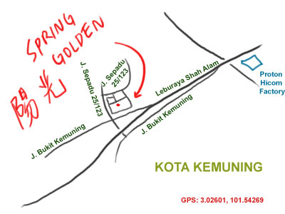map to restaurant Spring Golden, Kota Kemuning