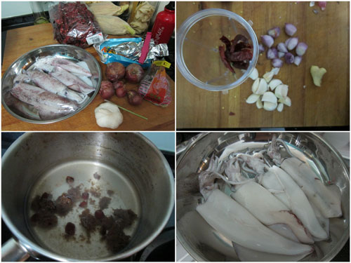 ingredients for asam squid curry