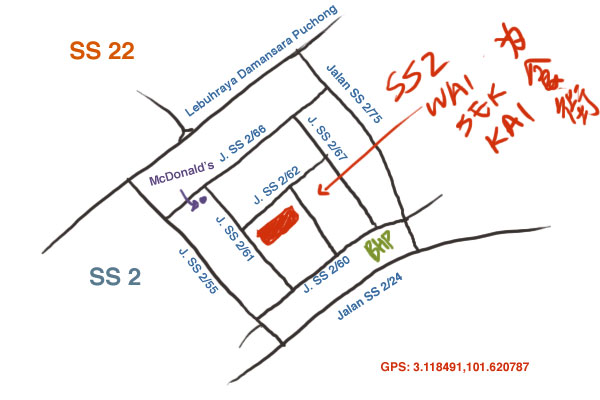 map of SS 2 wai sek kai