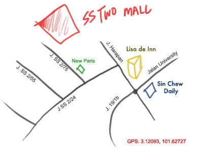 map to SS Two mall