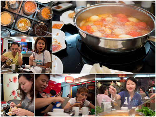 Horng, Yuki, Kerol, KY, Haze, and Winnie, we chose tomato & potato broth
