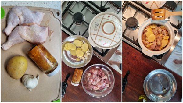 four ingredients make a pot of stewed chicken