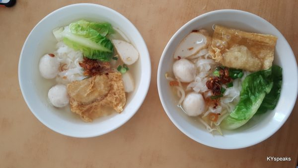 kuih teow soup, hawker style comfort food