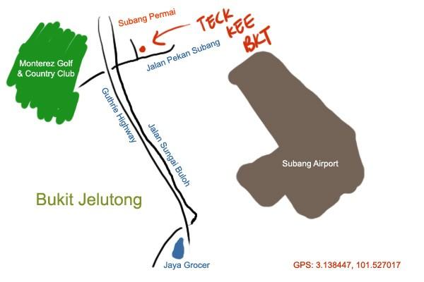 Subang Permai Teck Kee bak kut teh map
