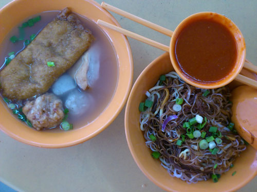 Kampar fishball noodle - dry version