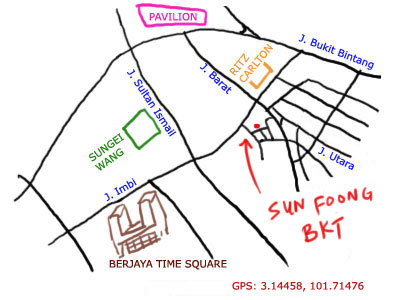 map to Sun Foong Bak Kut Teh