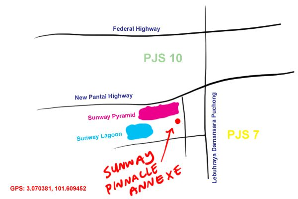 map to Sunway Pinnacle Annexe