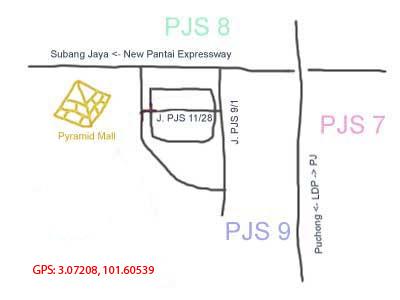 Sunway Pyramid map