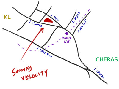 location map - Sunway Velocity