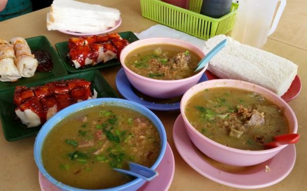 sup kambing (lamb), popiah, sup lidah (beef tongue)