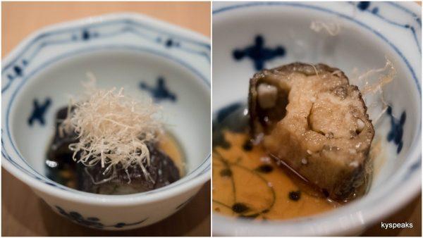 nasu nibitshi - fried eggplant