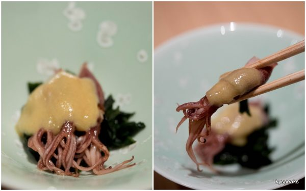 firefly squid with sweet miso