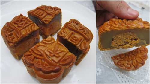 lotus paste double yolks, and the interesting shrimp sambal mooncake