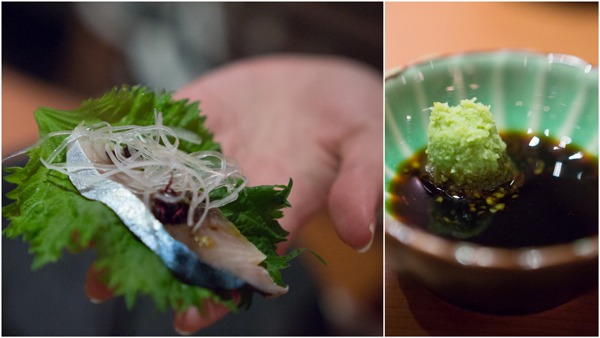 Spanish Mackerel, grated Wasabi