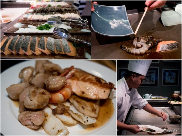 made to order teppanyaki dishes