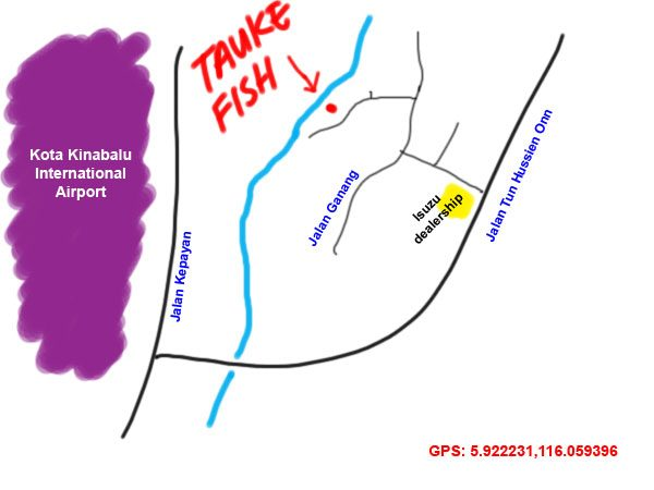 map to taukefish recipe, kota kinabalu