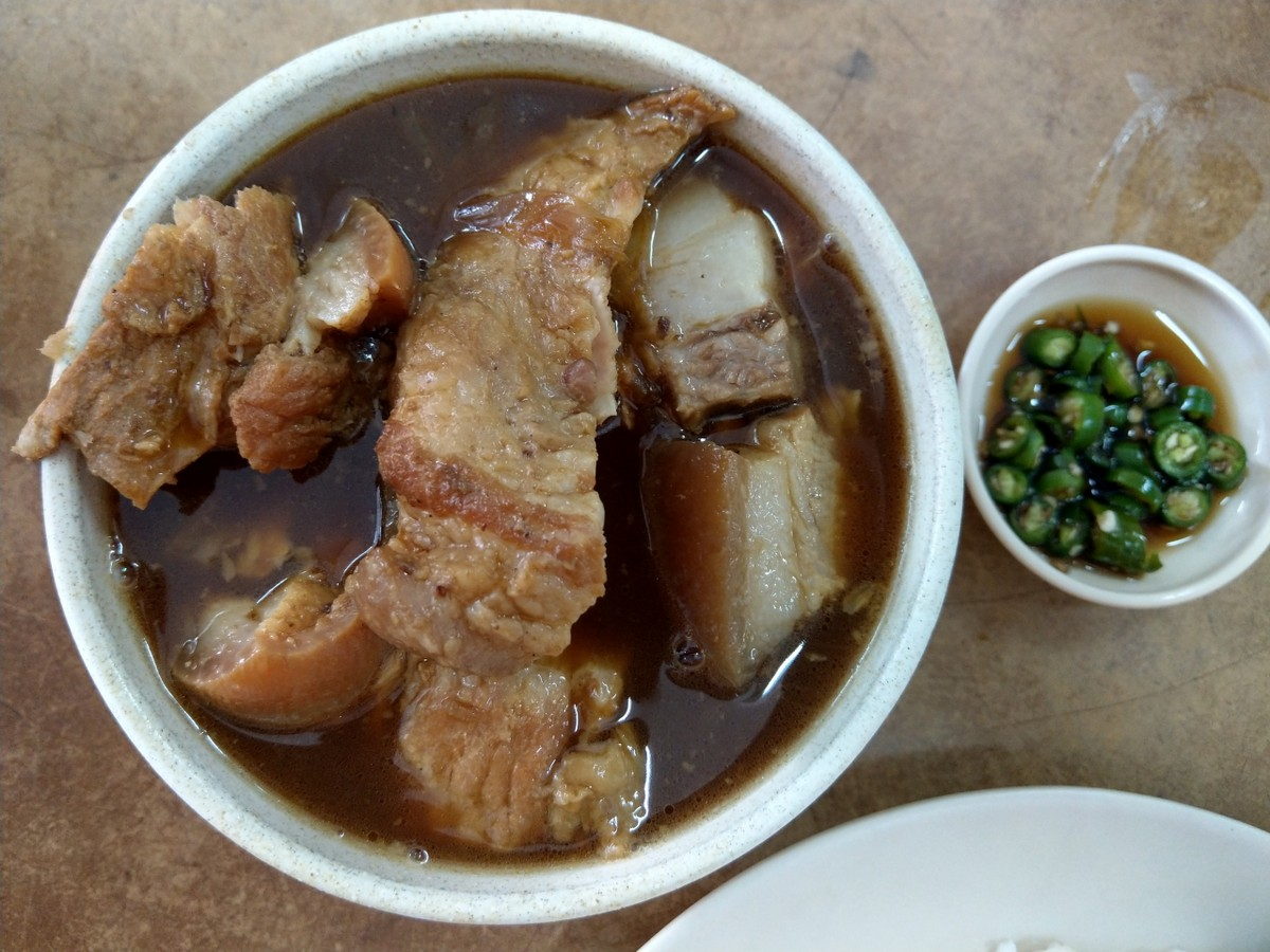 """pua pui chiak"", or pork belly meat"