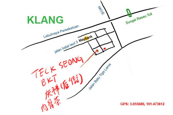 map to teck seong bkt