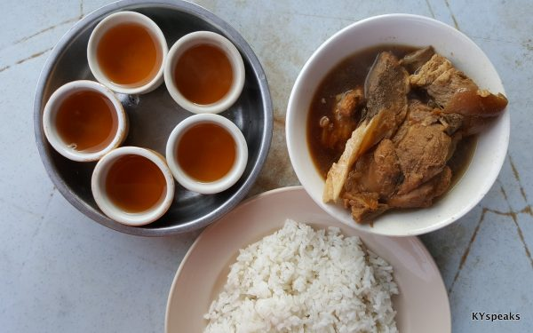 bak kut teh for one, at Teck Teh, Klang