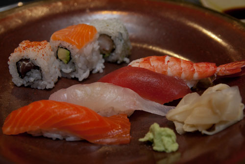 assortment of freshest sushi