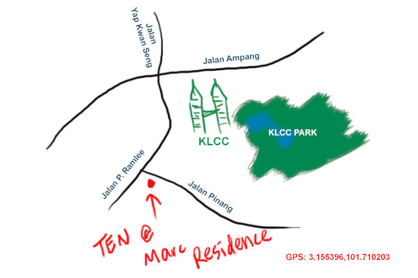 map to Marc Residence