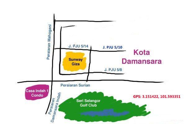 map to ten noodle kota damansara