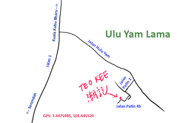 map to Teo Kee Ulu Yam