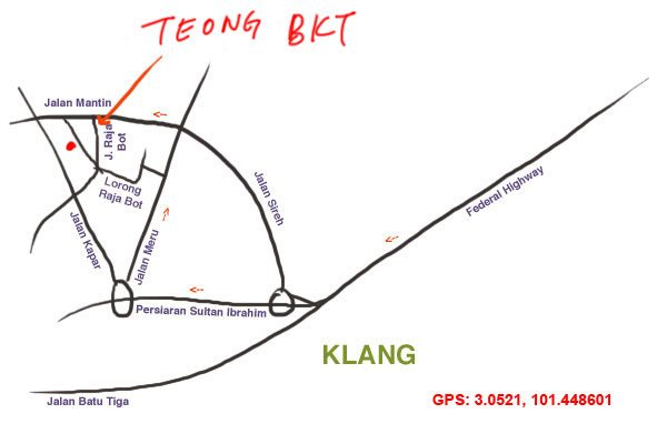 map to Teong Bak Kut Teh