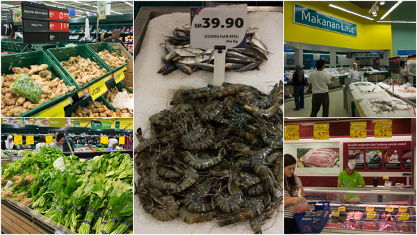 fresh produce, seafood, and a good fresh meat selections