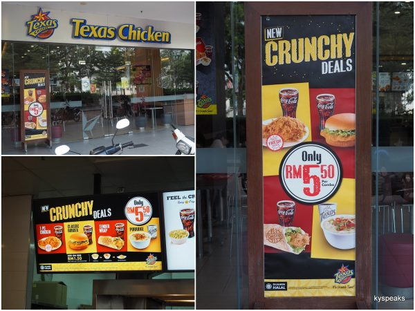 Texas Chicken RM 5.50 Crunchy Deals