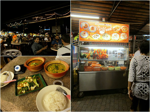 Thai food stall at Ming Tien food court