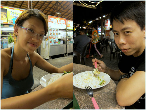 Haze and KY at Ming Tien, late night dinner