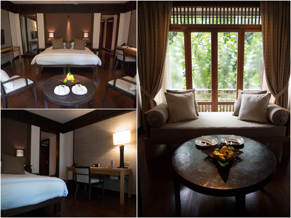 our room at The Datai, overlooking lush greenery