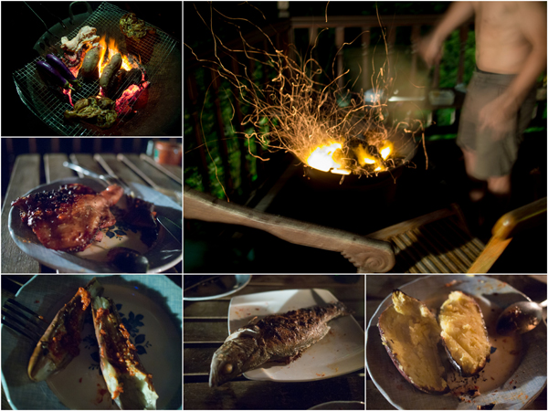 dinner was a self-cooked BBQ affair