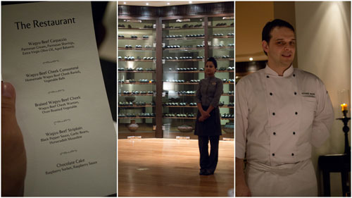 our menu and chef Alexander Waschl