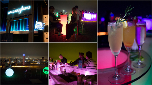 Stratosphere - where drinks are served on a helipad