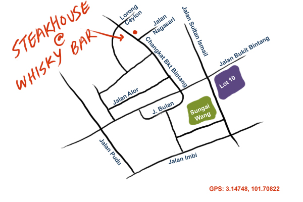 map to the Steakhouse KL