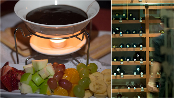 chocolate fondue at the Steakhouse KL