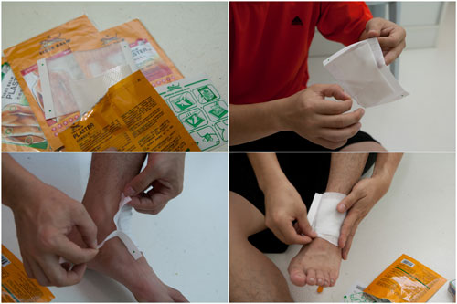 hydrogel pack with stretchable material and additional adhesive