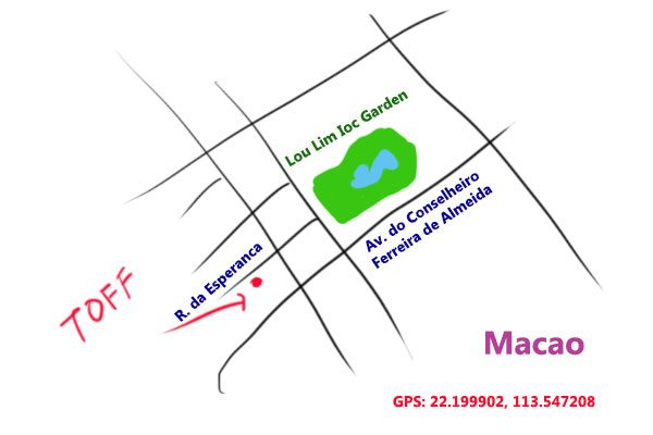 map to TOFF Cafe, Macao