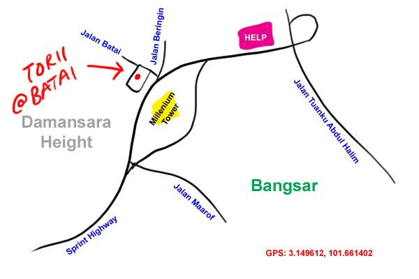 map to Torii at Jalan Batai