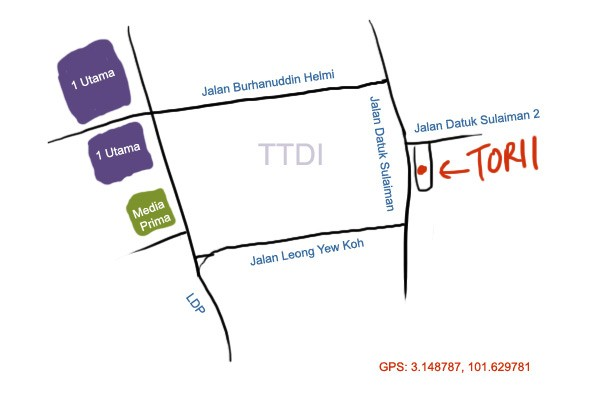 Torii at TTDI map
