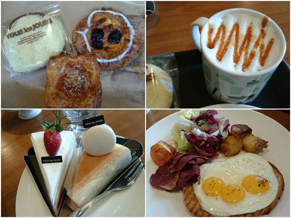 lunch for three, covering most of the product type at Tous les Jours