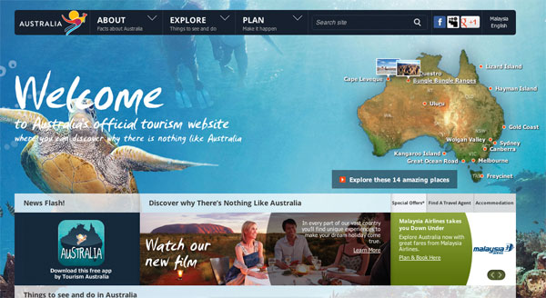 australia.com website, everything you need to plan a trip
