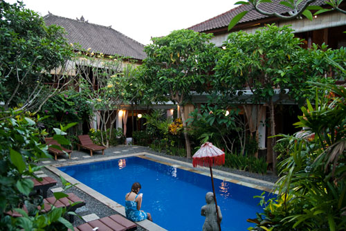 the swimming pool at Tropical Bali Hotel