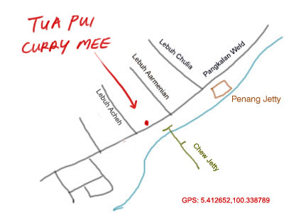 map to tua pui curry mee, weld quay