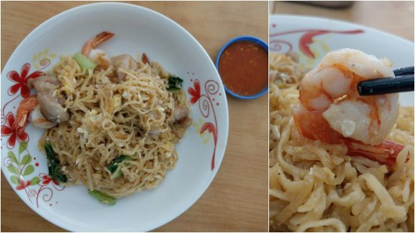 seafood Tuaran mee with lehing, love it!