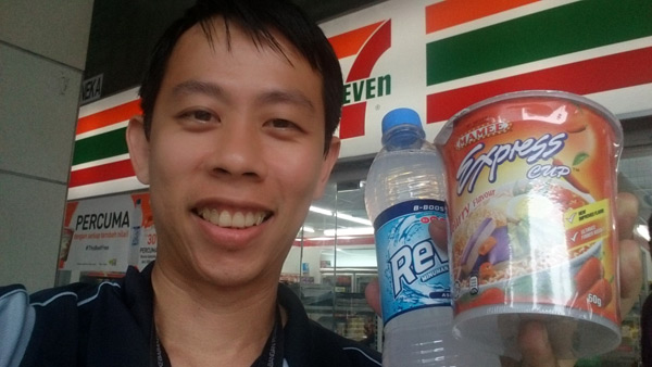 I redeemed mine at Ampang Park 7-11